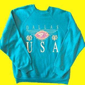 90s Dallas, USA Crewneck Sweatshirt
